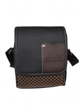 Business Style Plaid Cheap Messenger Bags For Men