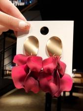 Red Acrylic Irregular Drop Earrings