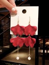 Irregular Faux Pearl Pendant Dangle Earrings