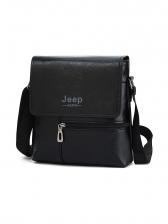 Jeep Solid Zipper Letter Decor Messenger Bags
