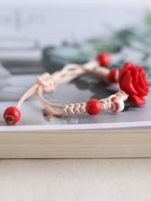 Simple Design Rose Bracelets For Women