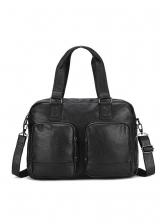 Preppy Style Solid Pockets Men Messenger Bag
