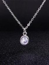 Rhinestone Tassel Earrings And Necklace 3 Piece Set