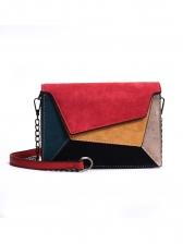 Vintage Contrast Color Square Ladies Shoulder Bag