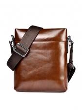 Vintage Zipper Letter Printed Men Shoulder Bag