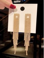 Easy Matching Shining Rhinestone Tassel Earrings