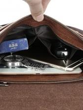 Formal Briefcase Pu One Shoulder Messenger Bag