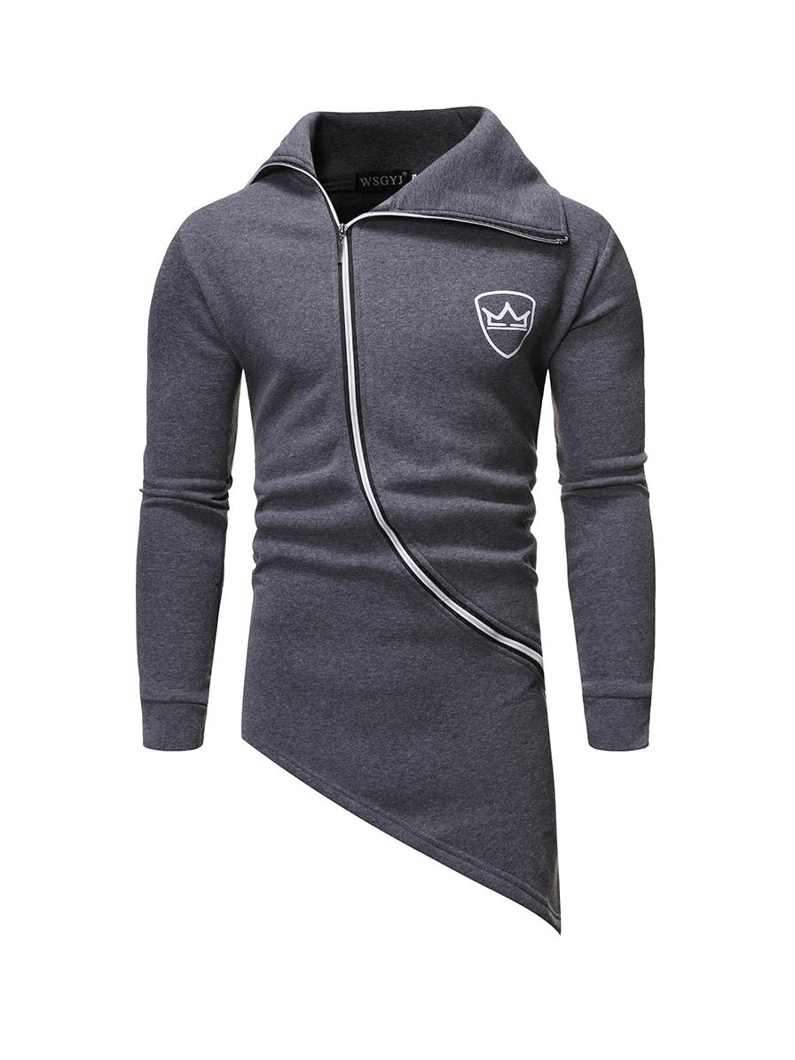 Casual Long Sleeve Zip Up Hoodies