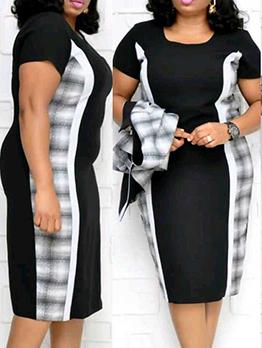 Trellis Patchwork 2 Piece Dress Set