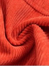Solid Color Zipper Up Corduroy Hooded Short Coat
