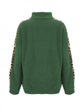 Leopard Printed Zipper Up Hoodies For Women