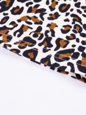 Fashion Leopard Printing Long Sleeve Bodycon Dress