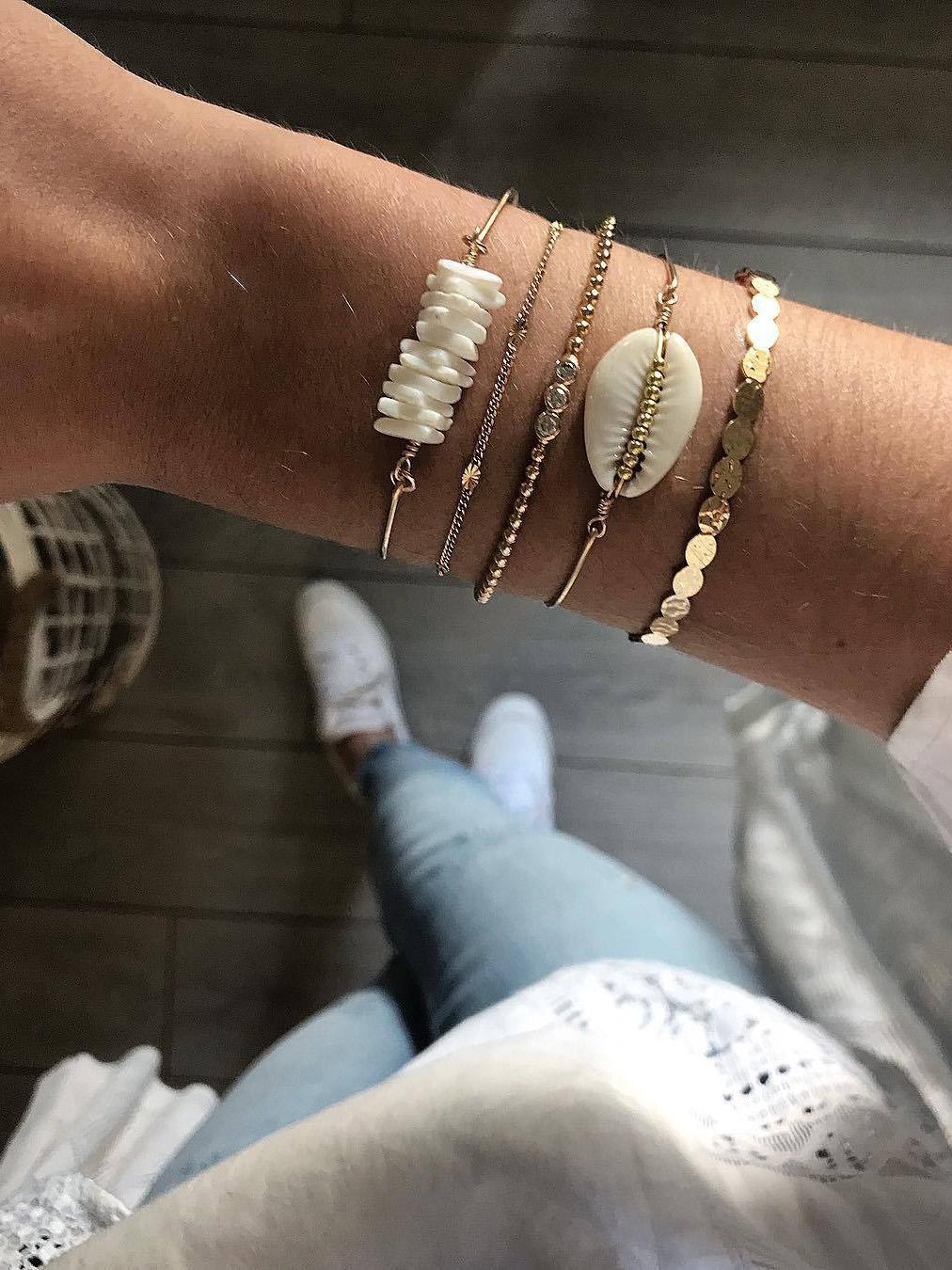 Shell Beach Bracelet 5 Piece Sets