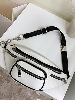 Multiple Zipper Adjustable Belt Crossbody Chest Bag