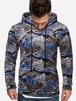 Warm Long Sleeve Hooded Men Sweatshirt