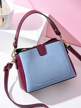 Contrast Color Crossbody Shoulder Bag