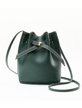 Easy Matching Pure Color Drawstring Shoulder Bag
