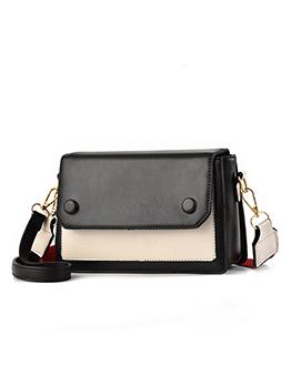 Contrast Color Small Square Shoulder Bag