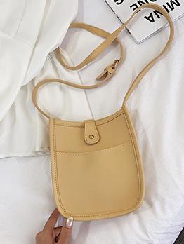 Simple Style Solid Color Crossbody Shoulder Bag