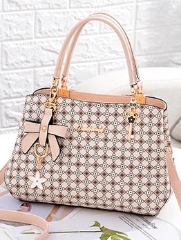 Fashion Contrast Color Bow Ladies Shoulder Bag
