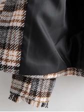 Fashion Plaid Cardigan Woolen Coat