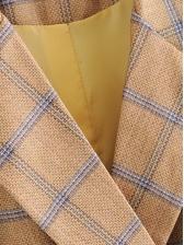 Fashion Plaid Double Breasted Blazer