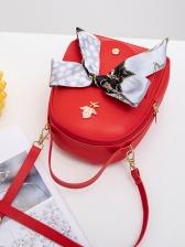 Multi-Function Silk Scarf Decor Mini Backpack For Women