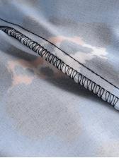 V Neck Leopard Print Long Sleeve Midi Dress