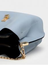 Easy Match Solid Color Adjustable Belt Pu Shoulder Bag