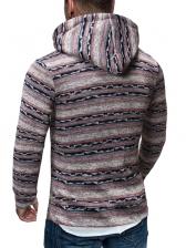 Stylish Long Sleeve Printed Hoodies For Men