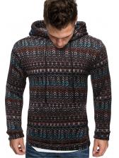 National Geometric Pattern Hoodies For Men