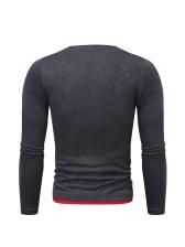 Casual Contrast Color t Shirt Design