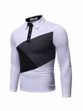 Stylish Contrast Color Mens Polo Shirts