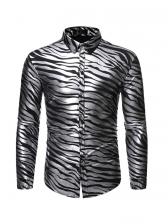 Fashion Wave Printed Long Sleeve Shirts
