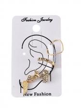 Punk Wing Dragonfly Heart Palm Stud Earrings Sets
