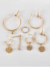 Pendant Hoop Earrings 7 Piece Sets