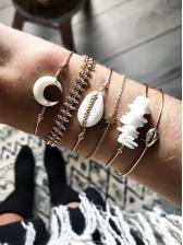 Bohemian Shell Crescent Bracelets For Women