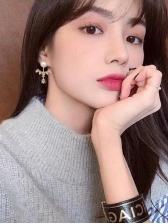 Chic Rhinestone Decor Faux Pearl Earrings