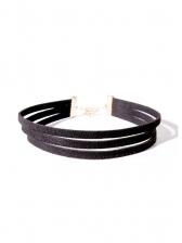 Simple Design Velvet Layered Necklace