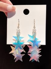 Chic Star Sequin Long Earrings