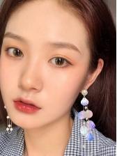 Colourful Shell Asymmetric Drop Earrings
