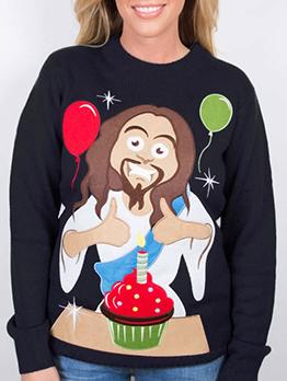 Figure Printed Couple Sweatshirts For Women