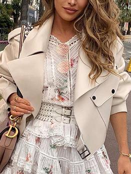 British Style Long Sleeve Leather Jacket