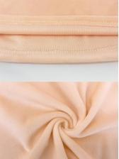 Pure Color Turndown Shoulder Long Sleeve Shirts