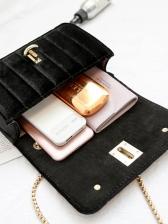 New Arrival Letter Velvet Crossbody Bags