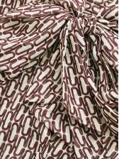 Tie Neck Print Long Sleeve Shirt Dress