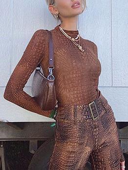 Vintage High Neck Long Sleeve Bodysuit