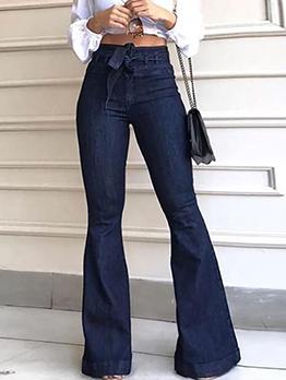 Smart Waist Denim Flare Bottom Jeans