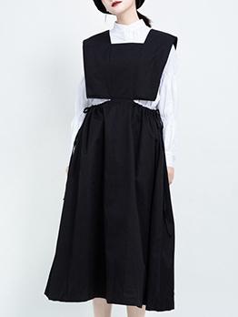 Slim Fitted Solid Sleeveless Midi Dress