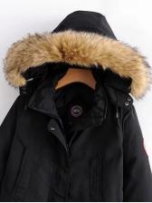 Fuzzy Long Hooded Winter Jacket